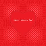 Card with heart shape on Polka dot background Stock Photography