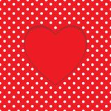 Card heart shape. Polka-dot background Royalty Free Stock Images