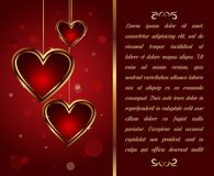 Card with heart for Valentine's day - vector. Illustration congratulation card with heart for Valentine's day - vector Royalty Free Stock Photography