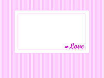 Card with heart and word love Royalty Free Stock Photography