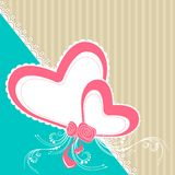 Card with Hearts Stock Images
