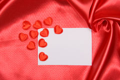 Card with hearts Royalty Free Stock Photography