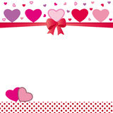 Card with hearts Stock Image