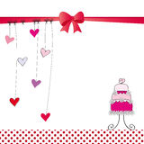Card with hearts Royalty Free Stock Photos