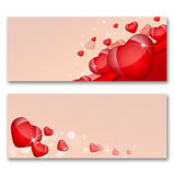 Card with hearts. The concept of Valentine's Day Royalty Free Stock Photos