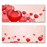 Card with hearts. The concept of Valentine's Day Royalty Free Stock Photography