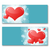 Card with hearts. The concept of Valentine's Day Royalty Free Stock Photo