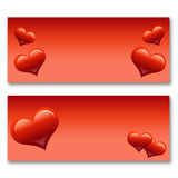 Card with hearts. The concept of Valentine's Day Royalty Free Stock Images