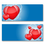 Card with hearts. The concept of Valentine's Day Stock Images