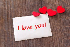 Card hearts I love you Stock Photos