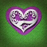 Card with hearts made ��of paper Royalty Free Stock Photos