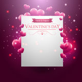 Card with hearts presents and sparkles Royalty Free Stock Photography