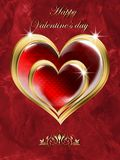 Card with Hearts for Valentine`s Day. Stock Image