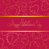 Card of hearts for Valentine's day Stock Images