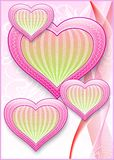 A card with hearts. Royalty Free Stock Photo