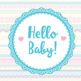 Card hello baby for scrapbooking album royalty free illustration