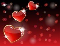 card hjärta som sparkling Arkivbilder