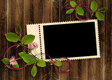 Card for the holiday on the abstract background Royalty Free Stock Image
