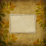 Card for the holiday  with autumn leaves Stock Image