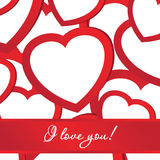 Card of holiday background with valentines Stock Photography