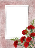 Card for the holiday with flower Royalty Free Stock Photography