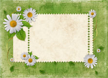 Card for the holiday  with flowers Royalty Free Stock Photography