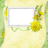 Card for the holiday  with flowers Royalty Free Stock Image