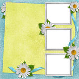Card for the holiday  with flowers Stock Photography