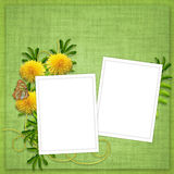 Card for holiday with flowers Stock Image