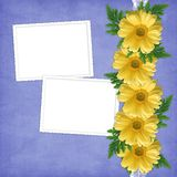 Card for the holiday  with flowers Royalty Free Stock Photos