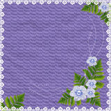 Card for the holiday with flowers and plants. Lilac card for the holiday with flowers and plants Royalty Free Stock Photography