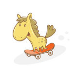Card with horse. Royalty Free Stock Image