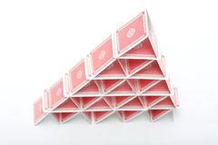 Card House Stock Photo