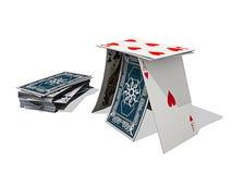 Card House Stock Photo