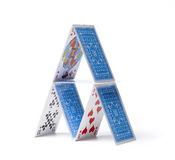 Card house stock images