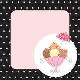Card with ice-cream Stock Photo