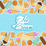 Card with ice cream Stock Image