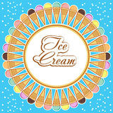 Card with ice cream Royalty Free Stock Photos