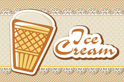 Card with ice cream Royalty Free Stock Images