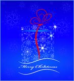 Card the image a gift with a ribbon Royalty Free Stock Image
