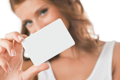 Card In Hand Royalty Free Stock Images