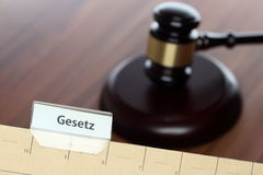 Card index with law text Stock Image