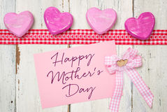 Card with the inscription Happy Mothers Day Royalty Free Stock Photo
