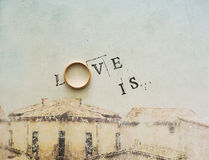 Card with an inscription - love.  is. Royalty Free Stock Photo