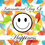 Card for International Day of Happiness- March 20 Royalty Free Stock Photos