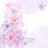 Card or invitation with abstract floral background Stock Photo