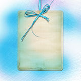 Card for invitation or advertisement with bow Stock Photo
