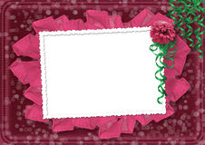 Card for the invitation with a beautiful flower Royalty Free Stock Photography