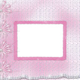 Card for invitation with bow and ribbons Royalty Free Stock Images
