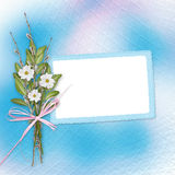 Card for invitation with bunch of flowers Stock Photo